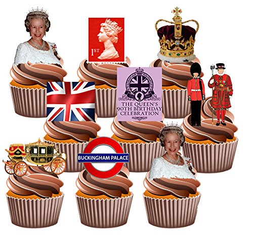 queen-s-celebracion-de-90-cumpleanos-36-cup-cake-toppers-comestibles-funcion-atril-up-decoracion