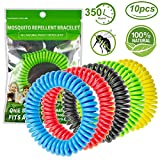 Diswoe Bracelets Anti-moustiques, 100% Naturel Anti-moustiques Bracelet Mosquito Répulsifs Bracelet DEET-Free Imperméable pour Enfants et Adultes, Jusqu'à 350 Heures de Protection