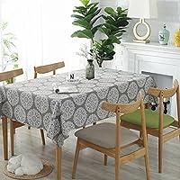 asfrata265 Grey Retro Tablecloth Home Hotel Table Cloth Cafe Hotel Cotton Linen Tablecloth Cover Towel 90 x90CM Grey