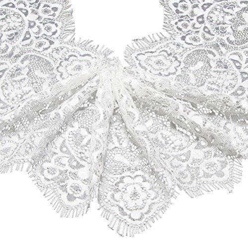 SUPVOX Floral Pattern Lace Trim Band unelastisch Applique für Hochzeitseinladungskarten Dekorieren Sewing Hair Bow Geschenkpackung machen -