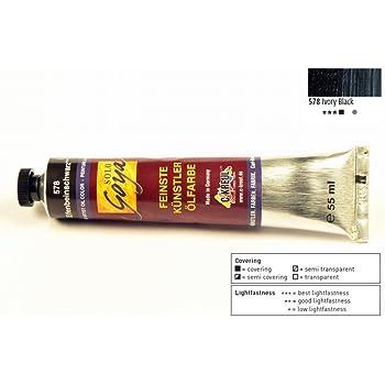 3fbbe8f1c8 Kreul 33578 - Solo Goya Feinste Künstlerölfarben, 55 ml Tube,  elfenbeinschwarz