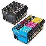 OfficeWorld Kompatible Patronen Ersatz für Epson T0711 T0712 T0713 T0714 (T0715) Tintenpatronen Kompatibel für Epson Stylus SX218 SX515W SX400 SX200 SX600FW SX610FW BX3450F D78 D92 D120 DX4000 DX4050 DX4400 DX4450 DX5000 DX5050 DX6000 DX6050 DX7000F DX7400 DX7450 DX8400 DX8450 DX9400F S20 S21 SX100 SX110 SX105 SX115 SX205 SX209 SX210 SX215 SX405 SX405WiFi SX410 SX415 SX510W BX600FW B40W BX300F BX310FN