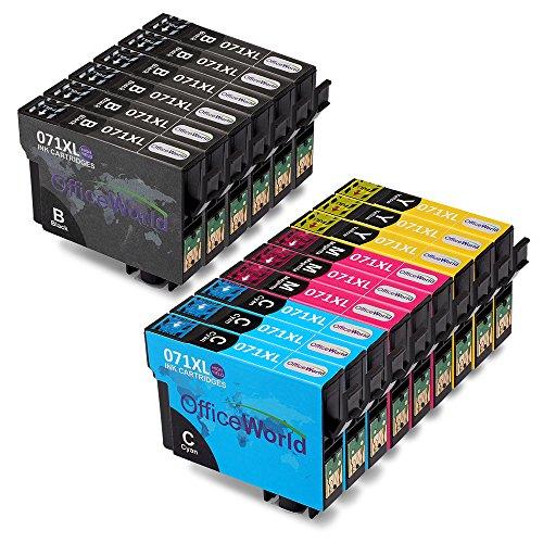 OfficeWorld Ersatz für Epson T0711 T0712 T0713 T0714 T0715 Druckerpatronen Kompatibel für Epson Stylus SX218 SX415 SX515W SX200 DX7450 DX8400 DX8450 SX100 DX4000 DX4050