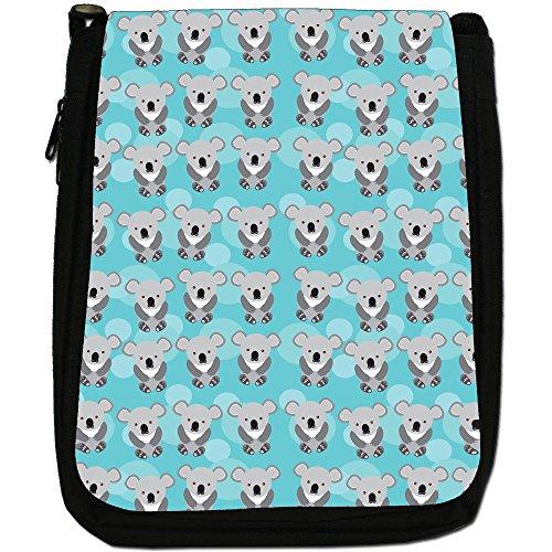 Tenero animale Unicorno Pattern Medio Borsa A Tracolla Tela Nera, misura media Rows Grey Cuddly Koala Bears