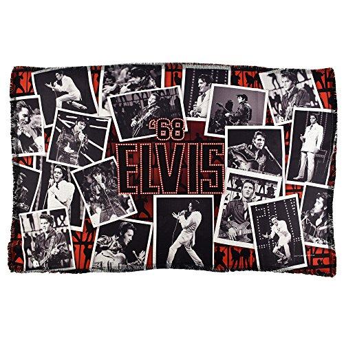 Elvis Presley '68Comeback Special Rock' n 'Roll Gewebte Überwurf Decke 36