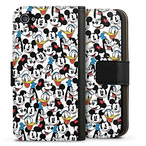 Apple iPhone X Silikon Hülle Case Schutzhülle Disney Mickey Mouse Goofy Donald Duck Minnie Mouse Fanartikel Geschenke Sideflip Tasche schwarz