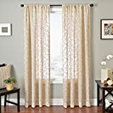 Best Home Fashion Sheers - Softline Home Fashions Embroidered Window Sheer/Panel/Curtain/Treatment/Drape with Chain Review