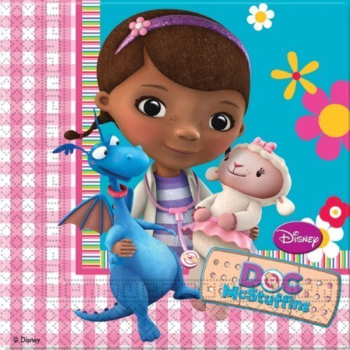 Servietten Doc McStuffins Party, 20 Stück (Doc Mcstuffin Party Supplies)