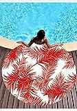Zigeuner Indisches Mandala Rot Tropische Pflanzen Ananas Runde Strandtuch Yoga Matte Picknickdecke Baby Pet Spielmatte, Wickelrock, Reisedecke, Tischdecke, Baby Spielmatte 59 in