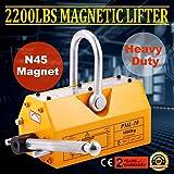 Autovictoria 1000KG Magnet Lifter Imán Cabrestantes Permanente Imán De Levantamiento Magnético de Neodimio Magnético Tienda de Grúa Montacargas De Metal (1000KG)