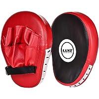 Luniquz 1 Paire de Pattes d'ours Boxe en Cuir Bouclier Courbe pour Boxe Taekwondo Muay Thaï MMA Cible Pad pour l…