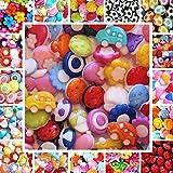30 bunt sortierte Kinderknöpfe - Motiv: Gemischt - Farbe: Gemischt - Größe: 7 bis 15mm - Knöpfe Puppenknöpfe Scrapbooking
