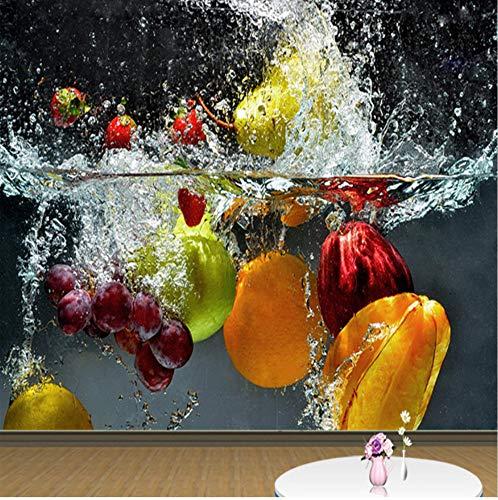 Grande Murale 3D Foto Frutta Spray Creativo Moderno Muro Sala Da Pranzo Soggiorno Decorazione Della Casa Adatto Per I Regali Agli Amici-(W)250X(H)175Cm