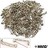HAND ® 100 PC-Sicherheitsschloss-Brosche / Namensabzeichen Pins 20mmW