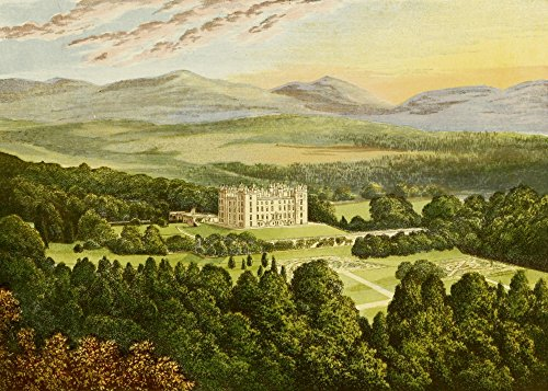 The Poster Corp A.F. Lydon – Views of Seats 1880 Drumlanrig Castle Kunstdruck (60,96 x 91,44 cm)