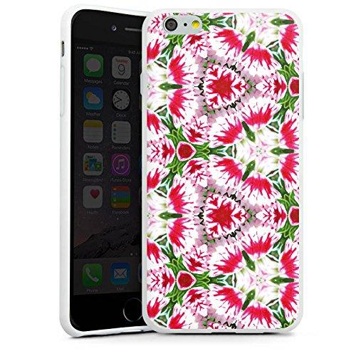 Apple iPhone X Silikon Hülle Case Schutzhülle Modern Kaleidoskop Blumen Silikon Case weiß