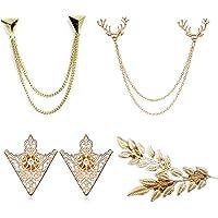 PPX 4 pezzi pullover Clip Colletto Maglione Cardigan sciarpa metallo clip blusen Clips Pullovers Metallclips argento…