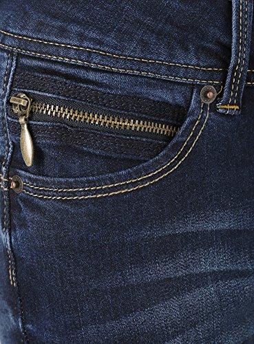 oodji Ultra Donna Jeans Skinny Push-Up Blu (7900W)
