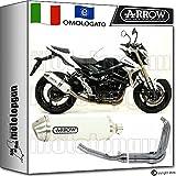 Arrow Auspuff Komplett Hom Racetech Aluminium White Suzuki GSR 75020141471776AOB + 71444Ich + 71443Ich