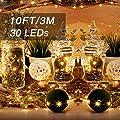 Onforu 16 Stück Micro LED Lichterkette | 3M 30er Batteriebetriebene Kupferdraht Lichterketten | Geeignet für DIY-Unterhaltung, Hochzeit, Weihnachten, Party Deko etc. Inkl. Batterie (CR2032)