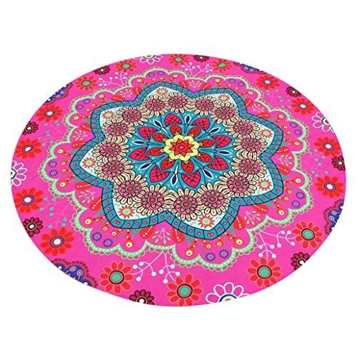 Wand Montiert Matte-plattform (sunnymi Runde Blumen Strand-Druck-Strand-Tuch/Lotus Hippie Handtuch Yoga Matte Tapisserie/Böhmischen Stil (Pink))