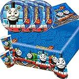 37-teiliges Party-Set Thomas und seine Freunde - Teller Becher Servietten Tischdecke für 8 Kinder