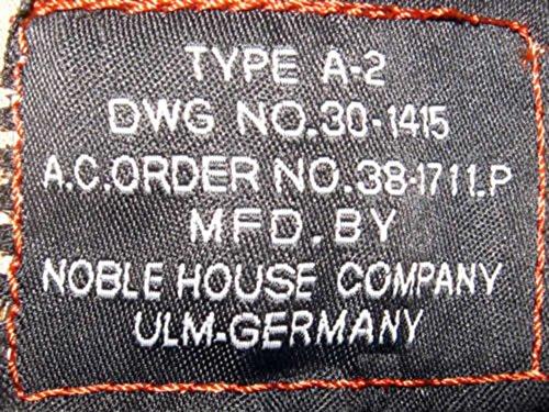 Noble House A-2 Type Lost Contract US Fliegerjacke Herren Lederjacke Pferdeleder - 5