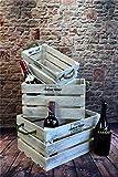 Livitat® Holzkiste 3er Set Weinkiste Landhaus Vintage...