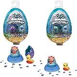 Hatchimals 6045520 - 2 CollEGGtibles Sammelfiguren im Ei Mermal Magic (S5), 2er - Pack + Nest