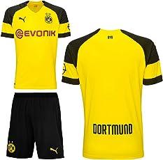 Puma BVB Borussia Dortmund Fußball Set Home Heimset 2018 2019 Herren Kinder mit Spieler Name