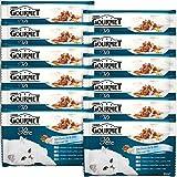Gourmet Perle Les Duos de la mer Repas pour chat adulte 4 x 85 g - Lot de 12 (48 sachets fraîcheurs)