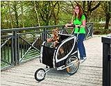 TEFLON® Hundefahrradanhänger Fahrrad Anhänger Fahrradanhänger Große Hunde Buggy Hundebuggy XL Bis 50 KG - 4