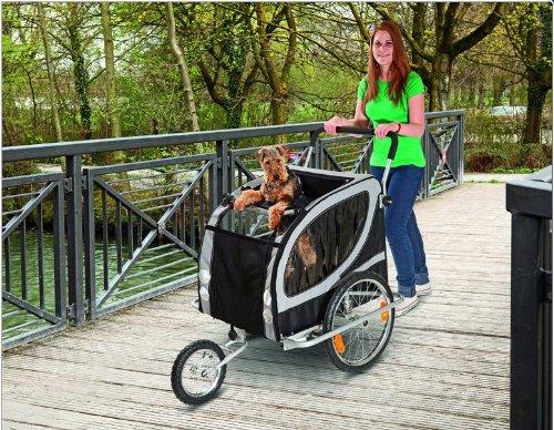 TEFLON® Hundefahrradanhänger Fahrrad Anhänger Fahrradanhänger Große Hunde Buggy Hundebuggy XL Bis 50 KG -