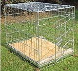 Bunny Business Cage en métal pour chien 2 portes Matelas et rouleaux inclus Argenté