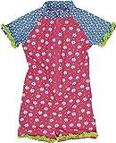 Playshoes Mädchen Einteiler Blumen, UV-Schutz nach Standard 801 und Oeko-Tex Standard 100, Gr. 74 (Herstellergröße: 74/80), Mehrfarbig (18 Pink)