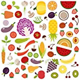 Wandkings Fliesensticker - Wähle ein Motiv - Obst - Gemüse - Sticker für z.B. Fliesen, Fliesenspiegel in Küche & mehr