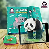 #5: Wild Animals | Age 3-10 Years | Perfect Birthday Return Gift for Children | Pre School Learning Toys | Augmented and Virtual Reality based Educational Game | Flash Cards