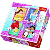 "Trefl 34256 4-in-1 ""Disney Princesses with Friends"" Puzzle"