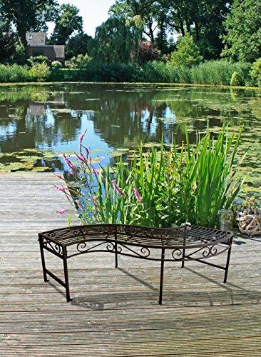 Garden Pleasure Gartenbank Metall Parkbank Garten Terrasse Bank Edel Rost Optik - 2