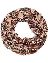Kandharis leichter Loopschal Rundschal in Paisley Blumen Muster LSG10