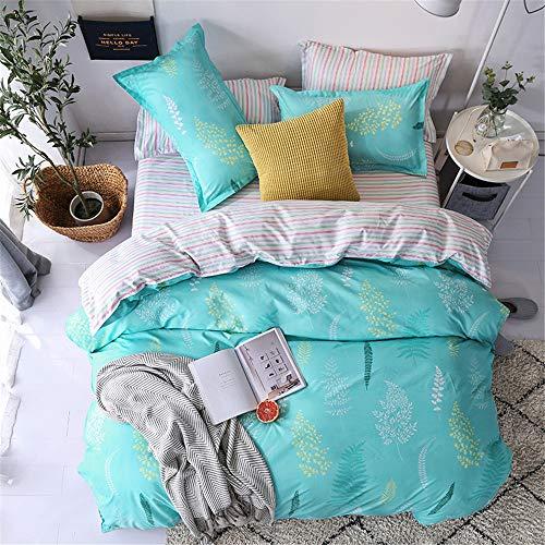 YUNSW Striped Plaid Bettbezug Reißverschluss Baumwollgewebe Bettbezug Erwachsene Kinder Weiche Tröster Fall Twin Voll Königin König B 180x210 cm -
