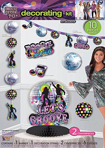 10pc Disco Party Decorating Kit.