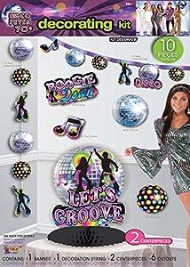 Forum Novelties X77969 - Kit de decoración para Fiesta de Discoteca, Multicolor, Talla única