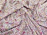 Paisley Print Baumwolle Linon Kleid Stoff