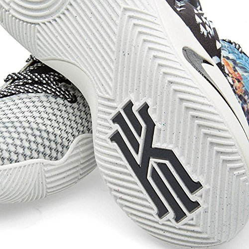 Nike Kyrie 2, Chaussures de Sport-Basketball Homme, 41 EU Gris / Noir / Bleu (Multi-Color / Black-Sail)
