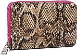styleBREAKER Damen Mini Geldbörse mit Schlangen Muster, Reißverschluss, Portemonnaie 02040127,...