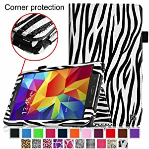 Fintie Samsung Galaxy Tab 4 7.0 Folio Case - Slim Fit Premium Vegan Leather Cover for Samsung Tab 4 7-Inch Tablet, Zebra Black