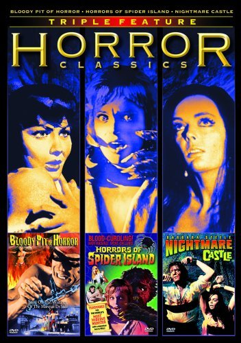 Horror Classics Triple Feature (Bloody Pit of Horror / Horrors of Spider Island / Nightmare Castle) by Mickey Hargitay -