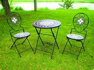 Furniture works mosaico tavolo rotondo 2 sedie for Tavolo rotondo mosaico