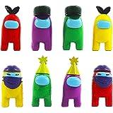 BESTZY Among Us Figuras en Miniatura 8PCS Among Us Figure Toy Entre Nosotros Juguetes Navidad DIY Figuras de Jardín Decoracio